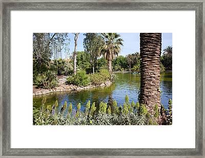 Ciutadella Park In Barcelona Framed Print by Artur Bogacki