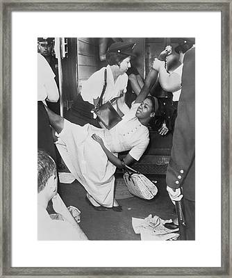 Civil Rights Demonstration Framed Print by Dick DeMarsico