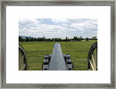 Civil War Cannon  Framed Print by David Lester