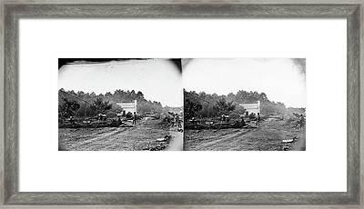 Civil War Field Hospital Framed Print by Granger