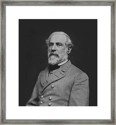 Civil War General Robert E Lee Framed Print by War Is Hell Store
