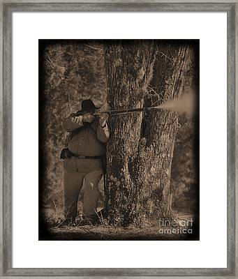 Civil War Re Enactment 1 Framed Print by Jocelyn Stephenson