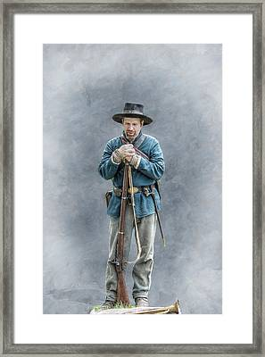 Civil War Soldier Co. F 78th Pvi Framed Print by Randy Steele