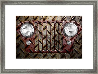 Civilian Jeep- Maroon Framed Print by Luke Moore