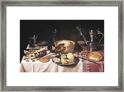 Claesz, Pieter 1597-1661. Still Life Framed Print by Everett