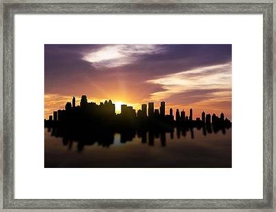 Calgary Sunset Skyline  Framed Print by Aged Pixel