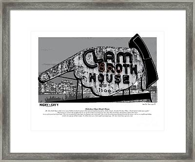 Clam Broth House Sign Framed Print by Kenneth De Tore