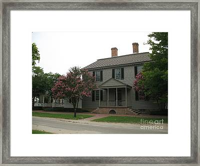 Clapboard House Colonial Williamsburg Framed Print by Christiane Schulze Art And Photography