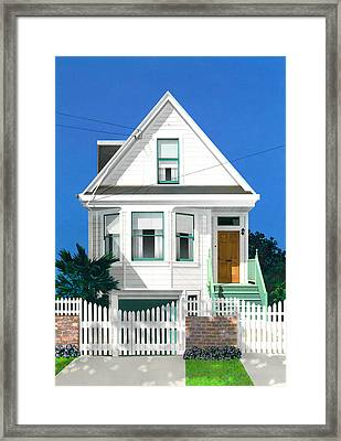 Clapperboard House Framed Print by David Holmes