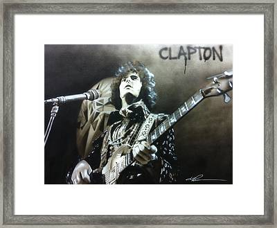 Eric Clapton - ' Clapton ' Framed Print by Christian Chapman Art