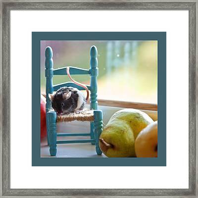 Clara's Favorite Chair Framed Print by Theresa Tahara