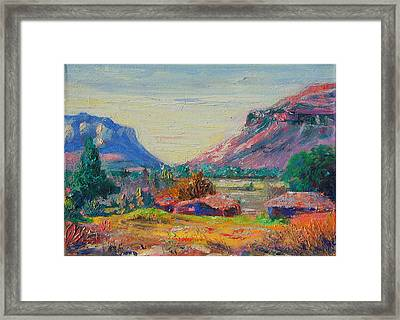 Clarence Mountain Free State South Africa Framed Print by Thomas Bertram POOLE