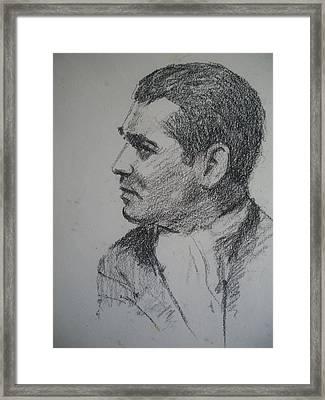 Clark Gable Framed Print by Henry Goode