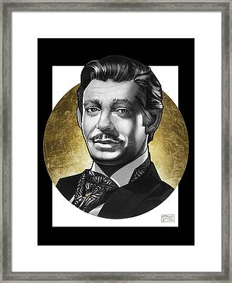 Clark Gable Framed Print by T M Rhyno