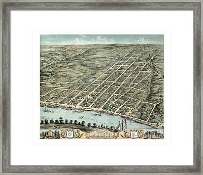 Clarksville - Tennessee - 1870 Framed Print by Pablo Romero