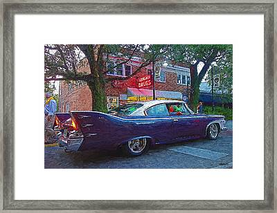 Classic 1960 Purple Plymouth Belvedere Car Framed Print by Rebecca Korpita