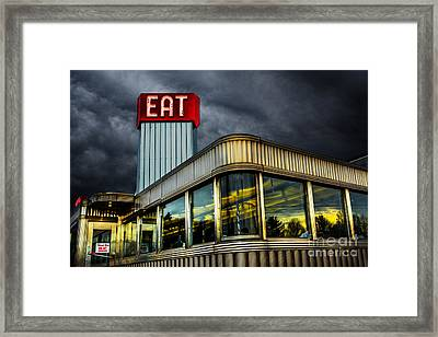 Classic American Diner Framed Print by Diane Diederich