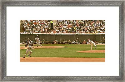 Classic Baseball Framed Print by Frozen in Time Fine Art Photography