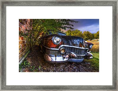 Classic Cadillac Framed Print by Debra and Dave Vanderlaan