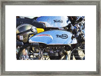 Classic Cafe Racers Framed Print by Tim Gainey