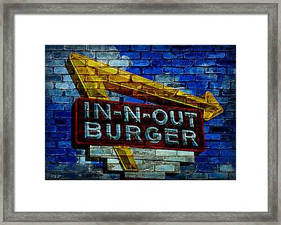 Classic Cali Burger 2.4 Framed Print by Stephen Stookey