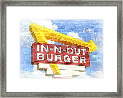 Classic Cali Burger 2.5 Framed Print by Stephen Stookey