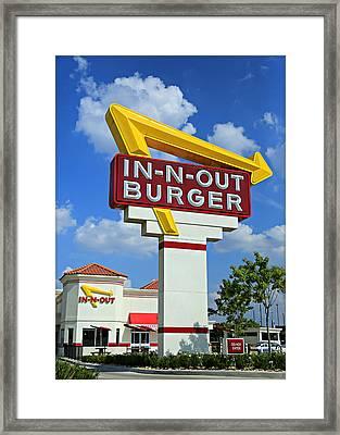 Classic Cali Burger Framed Print by Stephen Stookey