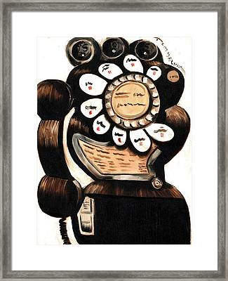 Classic Call Art Print Framed Print by Tommervik