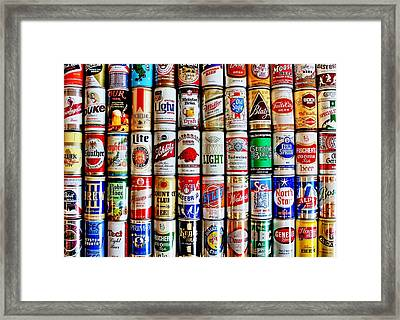 Classic Cans Framed Print by Benjamin Yeager
