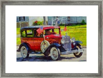 Classic Cars American Tradition Framed Print by Dan Sproul