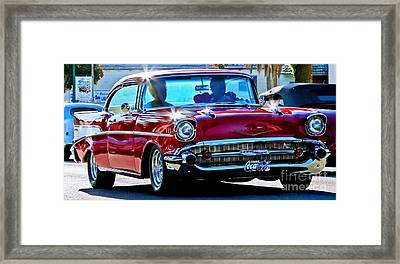 Classic Chevrolet Framed Print by Tap  On Photo