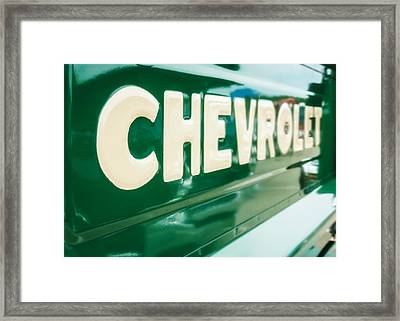 Classic Chevy Truck Tailgate Framed Print by Jon Woodhams