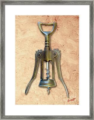 Double Pull Corkscrew Painting Framed Print by Jon Neidert