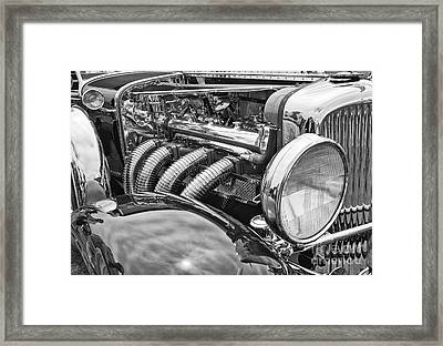 Classic Engine - Classic Cars At The Concours D Elegance. Framed Print by Jamie Pham