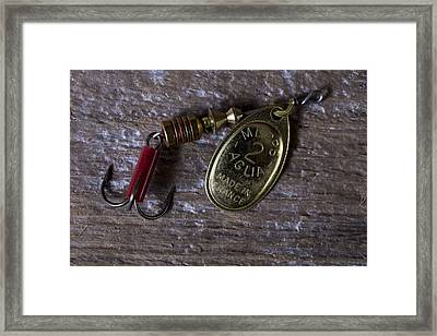 Classic Fishing Lure Framed Print by Andrew Pacheco