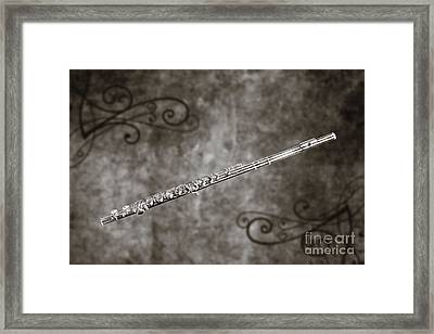 Classic Flute Music Instrument Photograph In Sepia 3306.01 Framed Print by M K  Miller