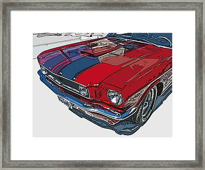 Classic Ford Mustang Nose Study Framed Print by Samuel Sheats