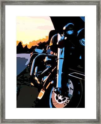 Classic Harley Framed Print by Michael Pickett