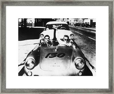Classic James Dean Porsche Photo Framed Print by Georgia Fowler