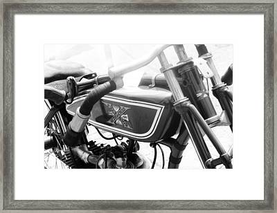 Classic Motorcycle Framed Print by Kelly Hazel