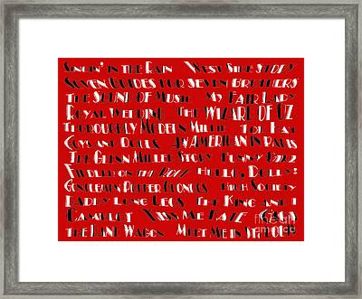 Classic Movie Musicals Framed Print by Andee Design