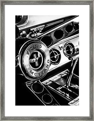 Classic Mustang Interior Framed Print by Jon Woodhams