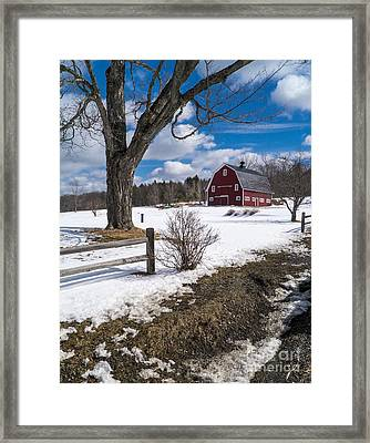 Classic New England Farm Scene Framed Print by Edward Fielding