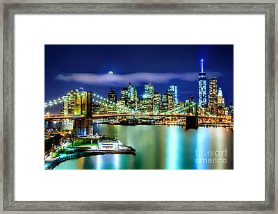 Classic New York Skyline Framed Print by Az Jackson