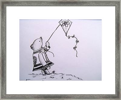 Classic Pooh Framed Print by Jessica Sanders