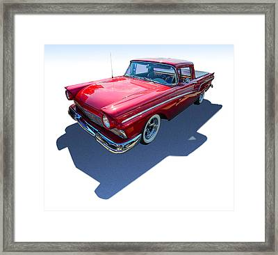 Classic Red Truck Framed Print by Gianfranco Weiss