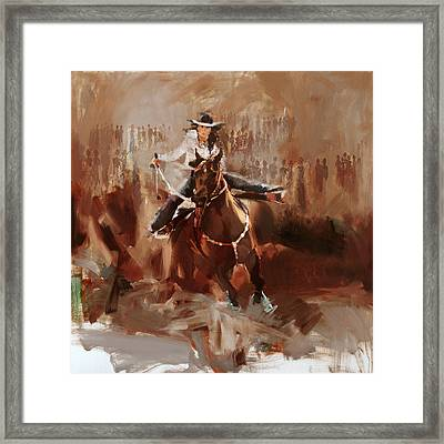 Classic Rodeo 1 Framed Print by Maryam Mughal