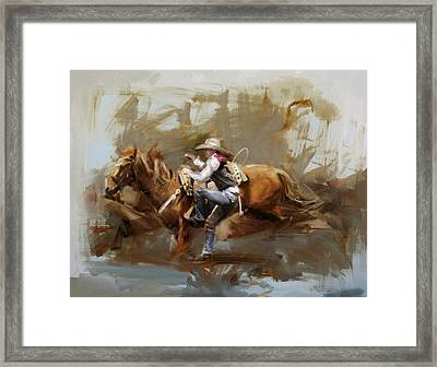 Classic Rodeo 5 Framed Print by Maryam Mughal