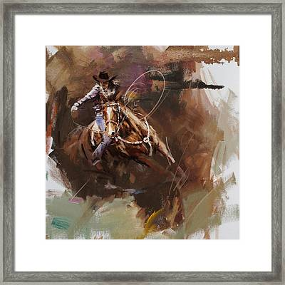 Classic Rodeo 8 Framed Print by Maryam Mughal