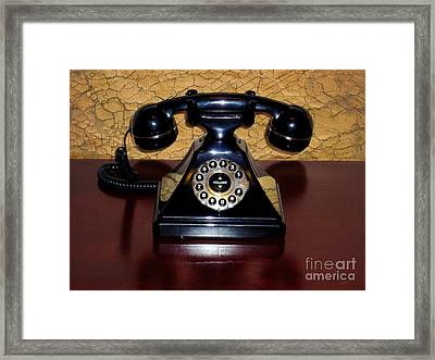 Classic Rotary Dial Telephone Framed Print by Mariola Bitner